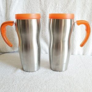 Starbucks Kitchen - 2 Starbucks Stainless Handled Tumblers Travel Mugs